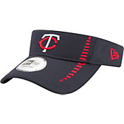 New Era Men's Minnesota Twins Navy Adjustable Speed Visor