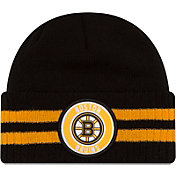 New Era Men's Boston Bruins Two Stripe Remix Knit Hat