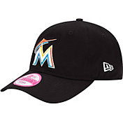 New Era Women's Miami Marlins Essential 9Forty Black Adjustable Hat