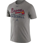 Nike Men's Atlanta Braves Practice Grey T-Shirt