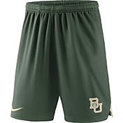 Nike Men's Baylor Bears Green Knit Football Sideline Performance Shorts