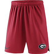 Nike Men's Georgia Bulldogs Red Knit Football Sideline Performance Shorts