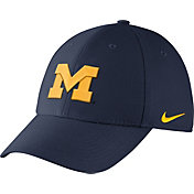 Nike Men's Michigan Wolverines Blue Dri-FIT Wool Swoosh Flex Hat