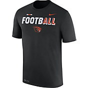 Nike Men's Oregon State Beavers FootbALL Sideline Legend Black T-Shirt