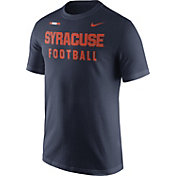 Nike Men's Syracuse Orange Blue Football Sideline Facility T-Shirt