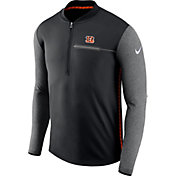 Nike Men's Cincinnati Bengals Sideline 2017 Coaches Black Half-Zip Top