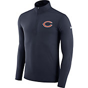 Nike Men's Chicago Bears Element Navy Quarter-Zip Top