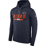 Nike Men's Chicago Bears Sideline 2017 Therma-FIT Navy Performance Hoodie
