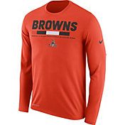 Nike Men's Cleveland Browns Legend Staff Orange Long Sleeve Performance Shirt
