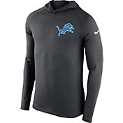 Nike Men's Detroit Lions Dri-FIT Touch Grey Hoodie