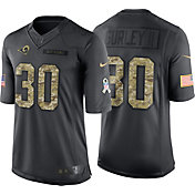Nike Men's Home Limited Jersey Los Angeles Rams Todd Gurley #30 Salute to Service 2016
