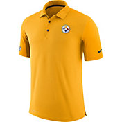 Nike Men's Pittsburgh Steelers Sideline 2017 Team Issue Gold Polo