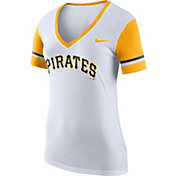 Nike Women's Pittsburgh Pirates Fan White V-Neck Shirt