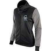 Nike Women's Colorado Rockies Black/Grey Full-Zip Track Jacket