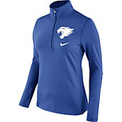 Nike Women's Kentucky Wildcats Blue Tailgate Dry Quarter-Zip Shirt