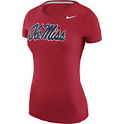 Nike Women's Ole Miss Rebels Red Logo T-Shirt