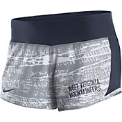 Nike Women's West Virginia Mountaineers Grey/Blue Crew Performance Shorts