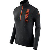 Nike Women's Cincinnati Bengals Element Quarter-Zip Performance Black Top