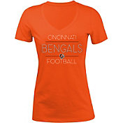 New Era Women's Cincinnati Bengals Rhinestone Orange T-Shirt