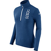 Nike Women's Indianapolis Colts Element Quarter-Zip Performance Blue Top