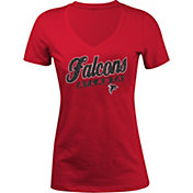 5th & Ocean Women's Atlanta Falcons Glitter Red T-Shirt