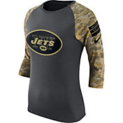 Nike Women's New York Jets Salute to Service 2016 Anthracite Raglan T-Shirt
