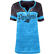 5th & Ocean Women's Carolina Panthers Burnout Blue T-Shirt