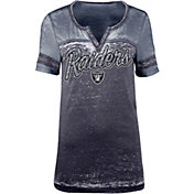5th & Ocean Women's Oakland Raiders Burnout Black T-Shirt