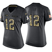 Nike Women's Home Game Jersey Seattle Seahawks Fan #12 Salute to Service 2016