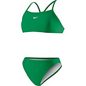 Nike Women's Poly Core Solid Sport 2-Piece Swimsuit
