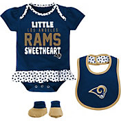 NFL Team Apparel Infant Los Angeles Rams Bib & Booty Set