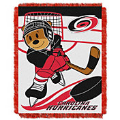 Northwest Carolina Hurricanes Score Baby 36 in x 46 in Jacquard Woven Throw Blanket