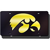 Rico Iowa Hawkeyes Black Laser Tag License Plate
