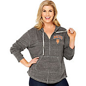 Soft As A Grape Women's New York Mets Grey Hoodie - Plus Size