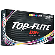 Top Flite Women's D2+ Diva Neon Golf Balls – 15 Pack