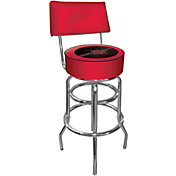 Trademark Games Houston Rockets Padded Swivel Bar Stool with Back