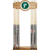Trademark Games Tulane Green Wave 2-Piece Wood and Mirror Wall Cue Rack