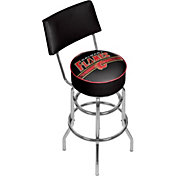 Trademark Games Calgary Flames Padded Swivel Bar Stool with Back