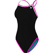 TYR Women's Double Binded Reversible Keyhole Back Swimsuit