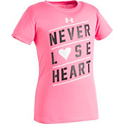 Under Armour Little Girls' Never Lose Heart T-Shirt