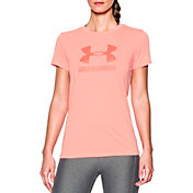 Under Armour Women's Threadborne Sportstyle Twist Print Crewneck T-Shirt