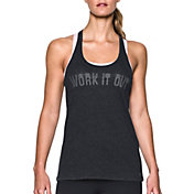 Under Armour Women's T-Back Work It Out Graphic Tank Top
