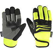 Wells Lamont Men's Hi Viz Insulated Knuckle Protected Gloves