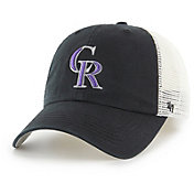'47 Men's Colorado Rockies Blue Hill Closer Black Fitted Hat