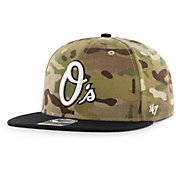 '47 Men's Baltimore Orioles Camo Overlord Captain Adjustable Snapback Hat
