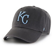 '47 Men's Kansas City Royals Clean Up Black Adjustable Hat
