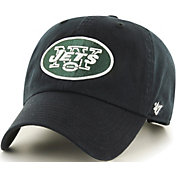 '47 Men's New York Jets Clean Up Black Adjustable Hat