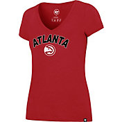 '47 Women's Atlanta Hawks Arch Basic Red V-Neck T-Shirt