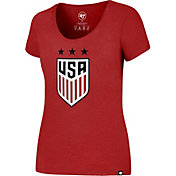 '47 Women's USA Club Red Scoop Neck T-Shirt