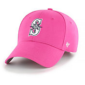 '47 Youth Girls' Seattle Mariners Basic Pink Adjustable Hat